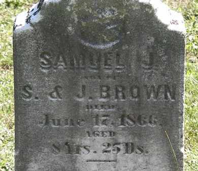 BROWN, SAMUEL J. - Lorain County, Ohio | SAMUEL J. BROWN - Ohio Gravestone Photos