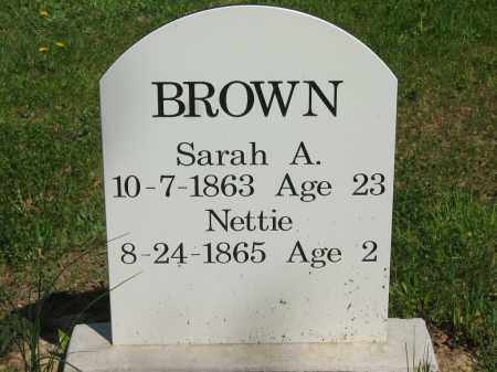 BROWN, SARAH A. - Lorain County, Ohio | SARAH A. BROWN - Ohio Gravestone Photos