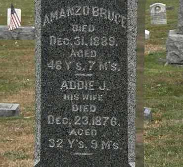 BRUCE, ADDIE J. - Lorain County, Ohio | ADDIE J. BRUCE - Ohio Gravestone Photos