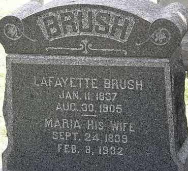 BRUSH, LAFAYETTE - Lorain County, Ohio | LAFAYETTE BRUSH - Ohio Gravestone Photos