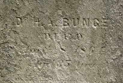 BUNCE, DR. H.A. - Lorain County, Ohio | DR. H.A. BUNCE - Ohio Gravestone Photos