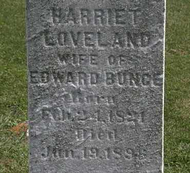 LOVELAND BUNGE, HARRIET - Lorain County, Ohio | HARRIET LOVELAND BUNGE - Ohio Gravestone Photos