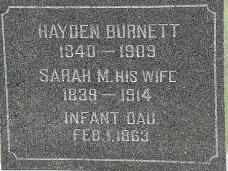 BURNETT, INFANT DAU. - Lorain County, Ohio | INFANT DAU. BURNETT - Ohio Gravestone Photos