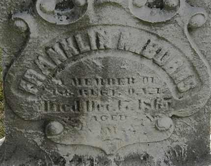 BURNS, FRANKLIN M. - Lorain County, Ohio | FRANKLIN M. BURNS - Ohio Gravestone Photos