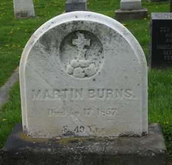 BURNS, MARTIN - Lorain County, Ohio | MARTIN BURNS - Ohio Gravestone Photos