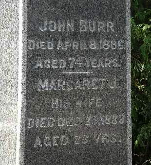 BURR, JOHN - Lorain County, Ohio | JOHN BURR - Ohio Gravestone Photos