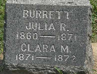 BURRETT, JULIA R. - Lorain County, Ohio | JULIA R. BURRETT - Ohio Gravestone Photos