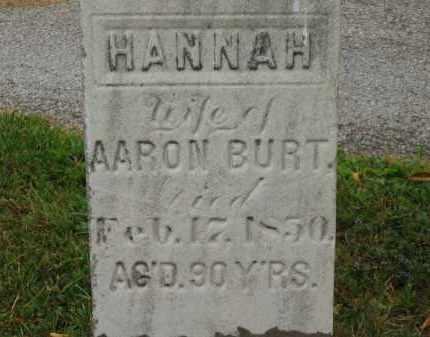 BURT, HANNAH - Lorain County, Ohio | HANNAH BURT - Ohio Gravestone Photos