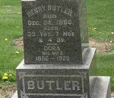 BUTLER, HENRY - Lorain County, Ohio | HENRY BUTLER - Ohio Gravestone Photos