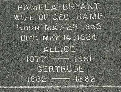 BRYANT CAMP, PAMELA - Lorain County, Ohio | PAMELA BRYANT CAMP - Ohio Gravestone Photos