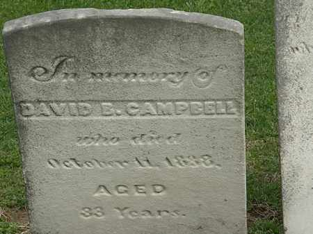 CAMPBELL, DAVID B. - Lorain County, Ohio | DAVID B. CAMPBELL - Ohio Gravestone Photos