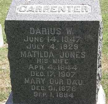 JONES CARPENTER, MATILDA - Lorain County, Ohio | MATILDA JONES CARPENTER - Ohio Gravestone Photos