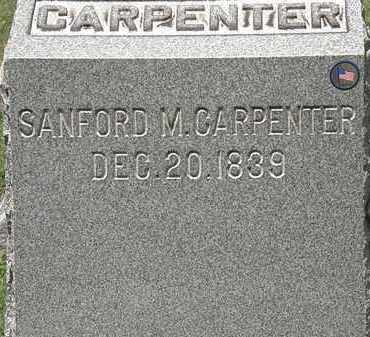 CARPENTER, SANFORD M. - Lorain County, Ohio | SANFORD M. CARPENTER - Ohio Gravestone Photos
