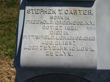 CARTER, STEPHEN T. - Lorain County, Ohio | STEPHEN T. CARTER - Ohio Gravestone Photos