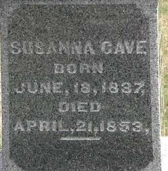 CAVE, SUSANNA - Lorain County, Ohio | SUSANNA CAVE - Ohio Gravestone Photos