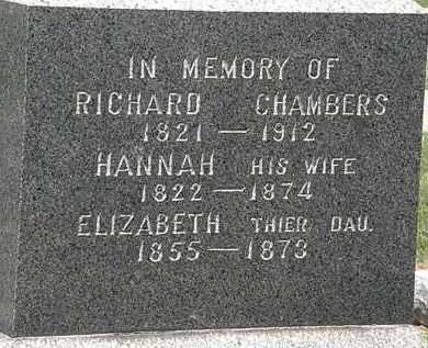 CHAMBERS, RICHARD - Lorain County, Ohio | RICHARD CHAMBERS - Ohio Gravestone Photos