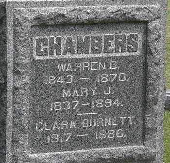 CHAMBERS, WARREN D. - Lorain County, Ohio | WARREN D. CHAMBERS - Ohio Gravestone Photos