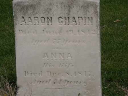 CHAPIN, ANNA - Lorain County, Ohio | ANNA CHAPIN - Ohio Gravestone Photos