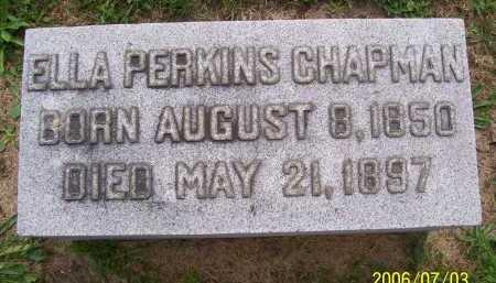 PERKINS CHAPMAN, ELLA - Lorain County, Ohio | ELLA PERKINS CHAPMAN - Ohio Gravestone Photos