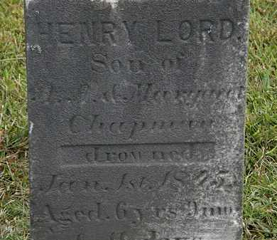 CHAPMAN, HENRY LORD - Lorain County, Ohio | HENRY LORD CHAPMAN - Ohio Gravestone Photos