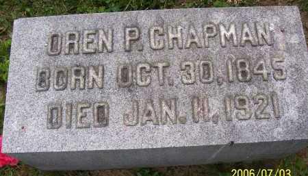 CHAPMAN, OREN P. - Lorain County, Ohio | OREN P. CHAPMAN - Ohio Gravestone Photos