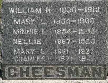 CHEESMAN, WILLIAM H. - Lorain County, Ohio | WILLIAM H. CHEESMAN - Ohio Gravestone Photos