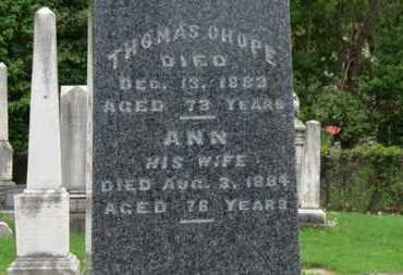 CHOPE, ANN - Lorain County, Ohio | ANN CHOPE - Ohio Gravestone Photos