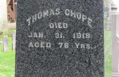 CHOPE, THOMAS - Lorain County, Ohio | THOMAS CHOPE - Ohio Gravestone Photos