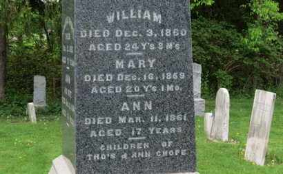 CHOPE, WILLIAM - Lorain County, Ohio | WILLIAM CHOPE - Ohio Gravestone Photos