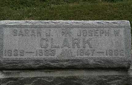 CLARK, JOSEPH W. - Lorain County, Ohio | JOSEPH W. CLARK - Ohio Gravestone Photos