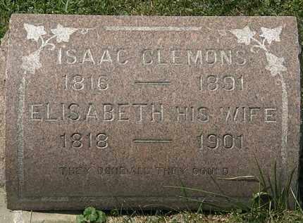 CLEMONS, ISAAC - Lorain County, Ohio | ISAAC CLEMONS - Ohio Gravestone Photos