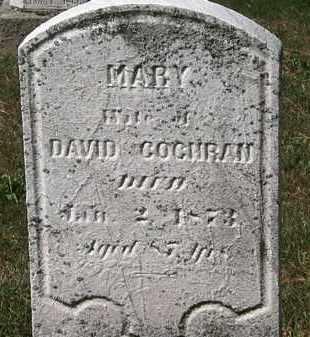 COCHRAN, MARY - Lorain County, Ohio | MARY COCHRAN - Ohio Gravestone Photos