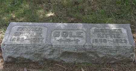 COLE, KITTIE - Lorain County, Ohio | KITTIE COLE - Ohio Gravestone Photos