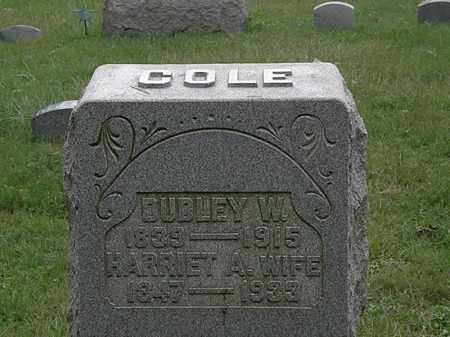 COLE, DUDLEY W. - Lorain County, Ohio | DUDLEY W. COLE - Ohio Gravestone Photos