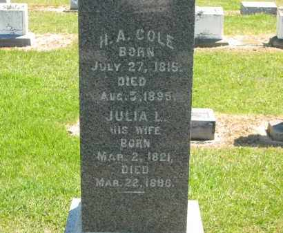 COLE, JULIA L. - Lorain County, Ohio | JULIA L. COLE - Ohio Gravestone Photos