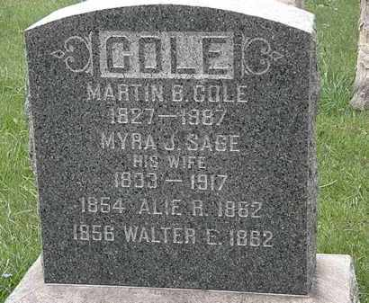 COLE, MYRA J. - Lorain County, Ohio | MYRA J. COLE - Ohio Gravestone Photos
