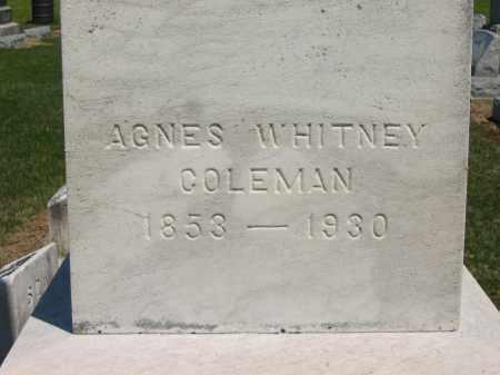 COLEMAN, AGNES - Lorain County, Ohio | AGNES COLEMAN - Ohio Gravestone Photos