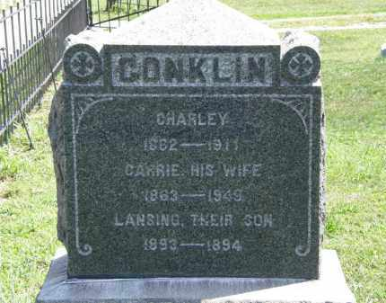 CONKLIN, CHARLEY - Lorain County, Ohio | CHARLEY CONKLIN - Ohio Gravestone Photos