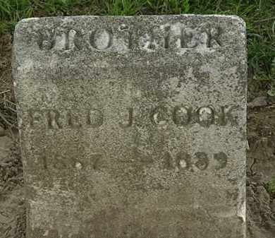 COOK, FRED J. - Lorain County, Ohio | FRED J. COOK - Ohio Gravestone Photos