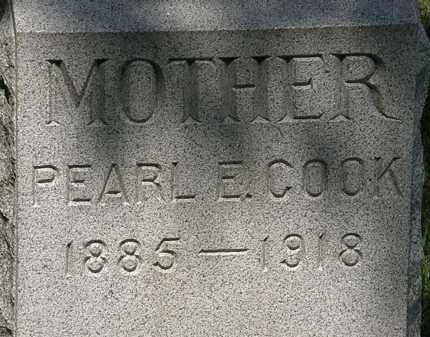 COOK, PEARL E. - Lorain County, Ohio | PEARL E. COOK - Ohio Gravestone Photos