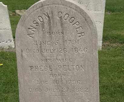 COOPER, ANSON - Lorain County, Ohio | ANSON COOPER - Ohio Gravestone Photos