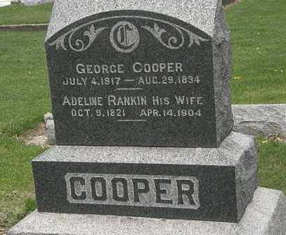 RANKIN COOPER, ADELINE - Lorain County, Ohio | ADELINE RANKIN COOPER - Ohio Gravestone Photos