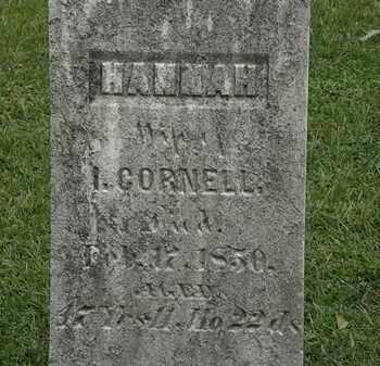CORNELL, HANNAH - Lorain County, Ohio | HANNAH CORNELL - Ohio Gravestone Photos
