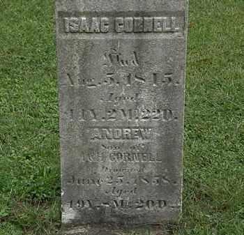 CORNELL, ISAAC - Lorain County, Ohio | ISAAC CORNELL - Ohio Gravestone Photos