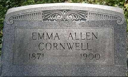 CORNWELL, EMMA ALLEN - Lorain County, Ohio | EMMA ALLEN CORNWELL - Ohio Gravestone Photos