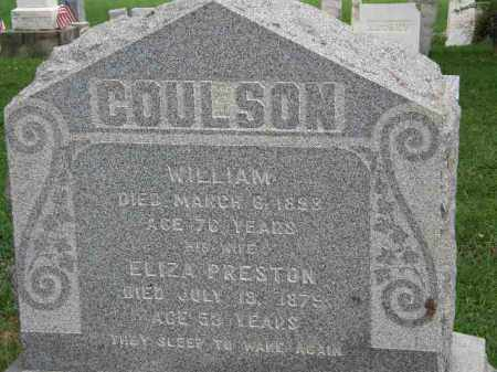 COULSON, ELIZA - Lorain County, Ohio | ELIZA COULSON - Ohio Gravestone Photos