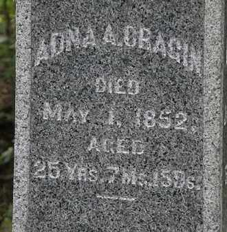 CRAGIN, ADNA A. - Lorain County, Ohio | ADNA A. CRAGIN - Ohio Gravestone Photos