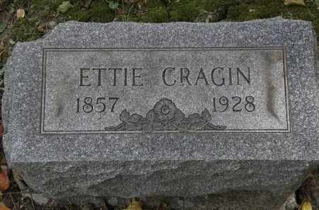 CRAGIN, ETTIE - Lorain County, Ohio | ETTIE CRAGIN - Ohio Gravestone Photos