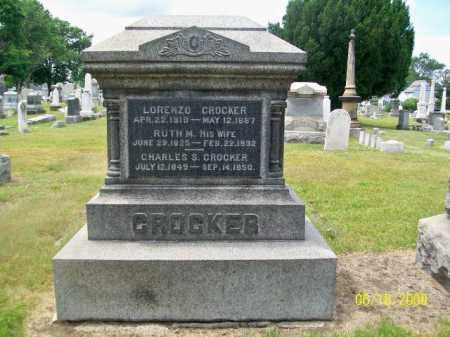 CROCKER, LORENZO - Lorain County, Ohio | LORENZO CROCKER - Ohio Gravestone Photos
