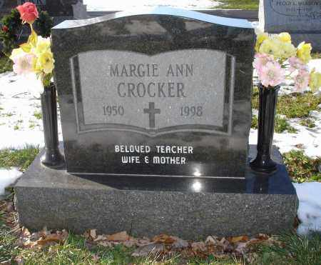 CROCKER, MARGIE ANN - Lorain County, Ohio | MARGIE ANN CROCKER - Ohio Gravestone Photos